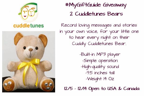 CuddleTunes Bear Giveaway #MyGiftGuide