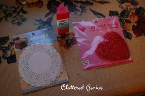 supplies Valentine's craft