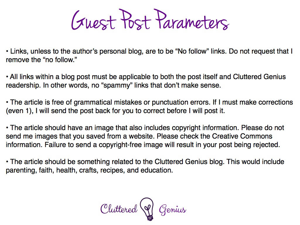 Protecting my Blog: Setting Parameters for Guest Posts