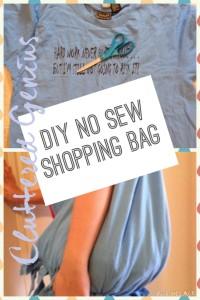 DIY No Sew Shopping Bag
