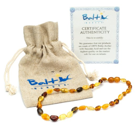 Multi Colored Baltic Amber Teething Necklace (Review)