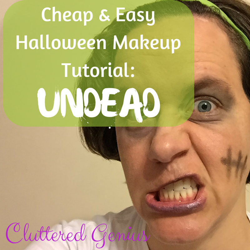 Cheap & Easy Halloween Makeup Tutorial: Undead!