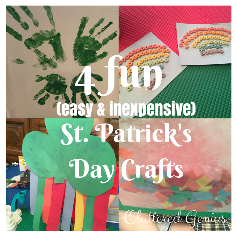 4 Fun (Easy & Inexpensive) St. Patrick's Day Crafts