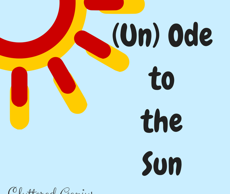 (Un)Ode to the Sun