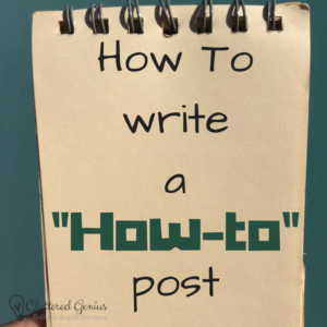 how to write a how to post