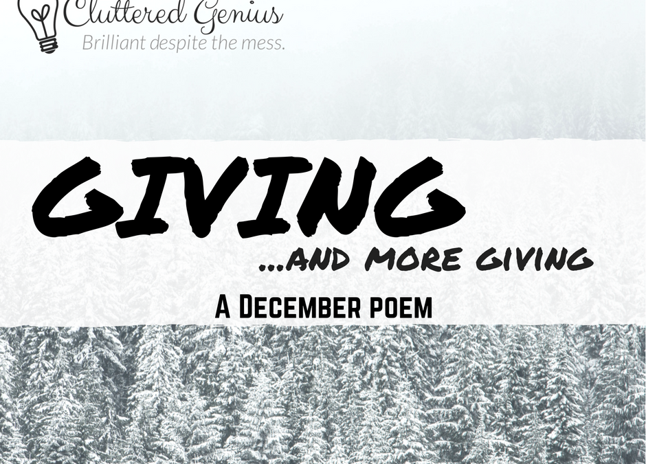 Giving…and more giving