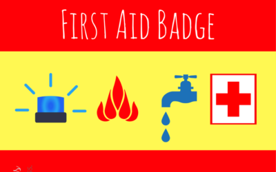 First Aid Badge (and Safety Pin)