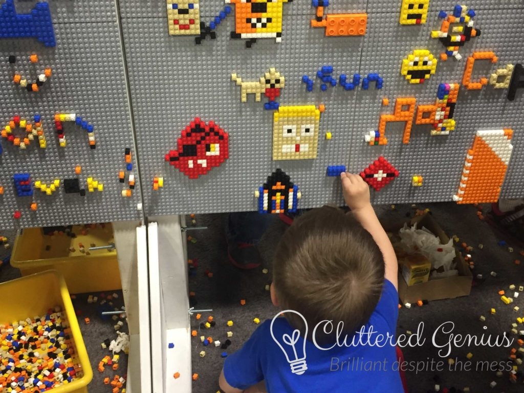 lego brickfest wall of bricks