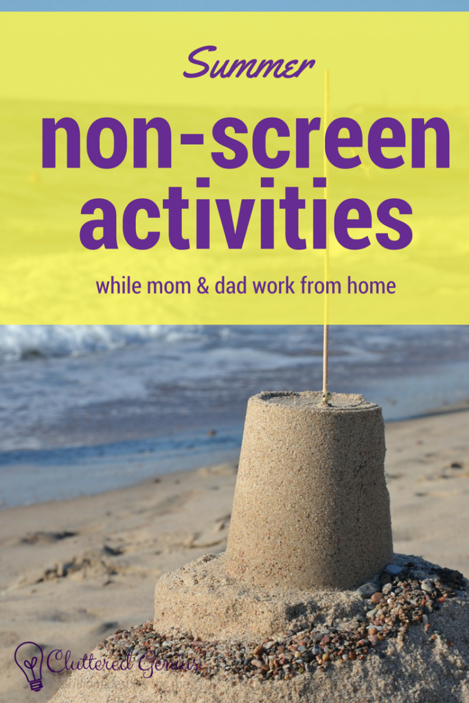 non-screen activities pin