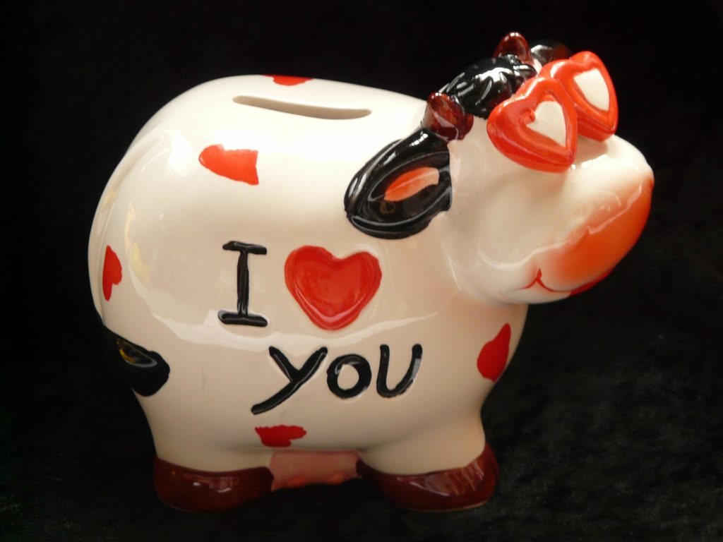 cow piggy bank
