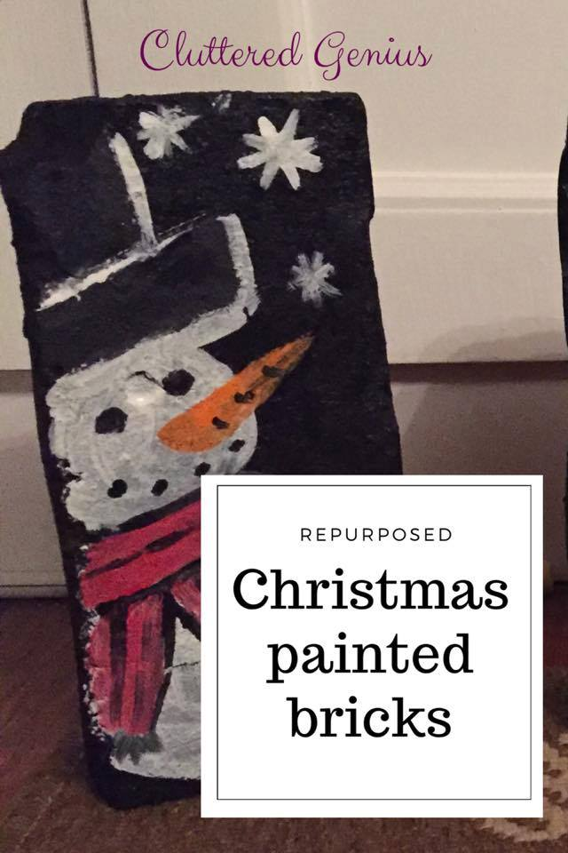 Re-purposed Christmas Painted Bricks