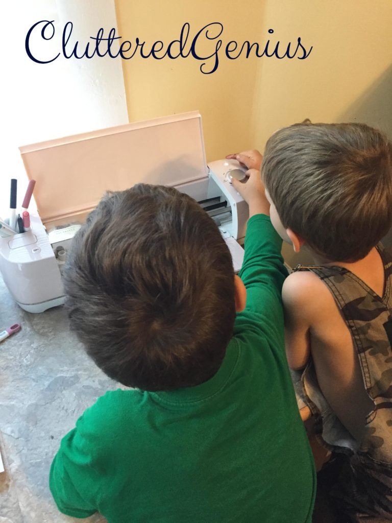 boys help with canvas