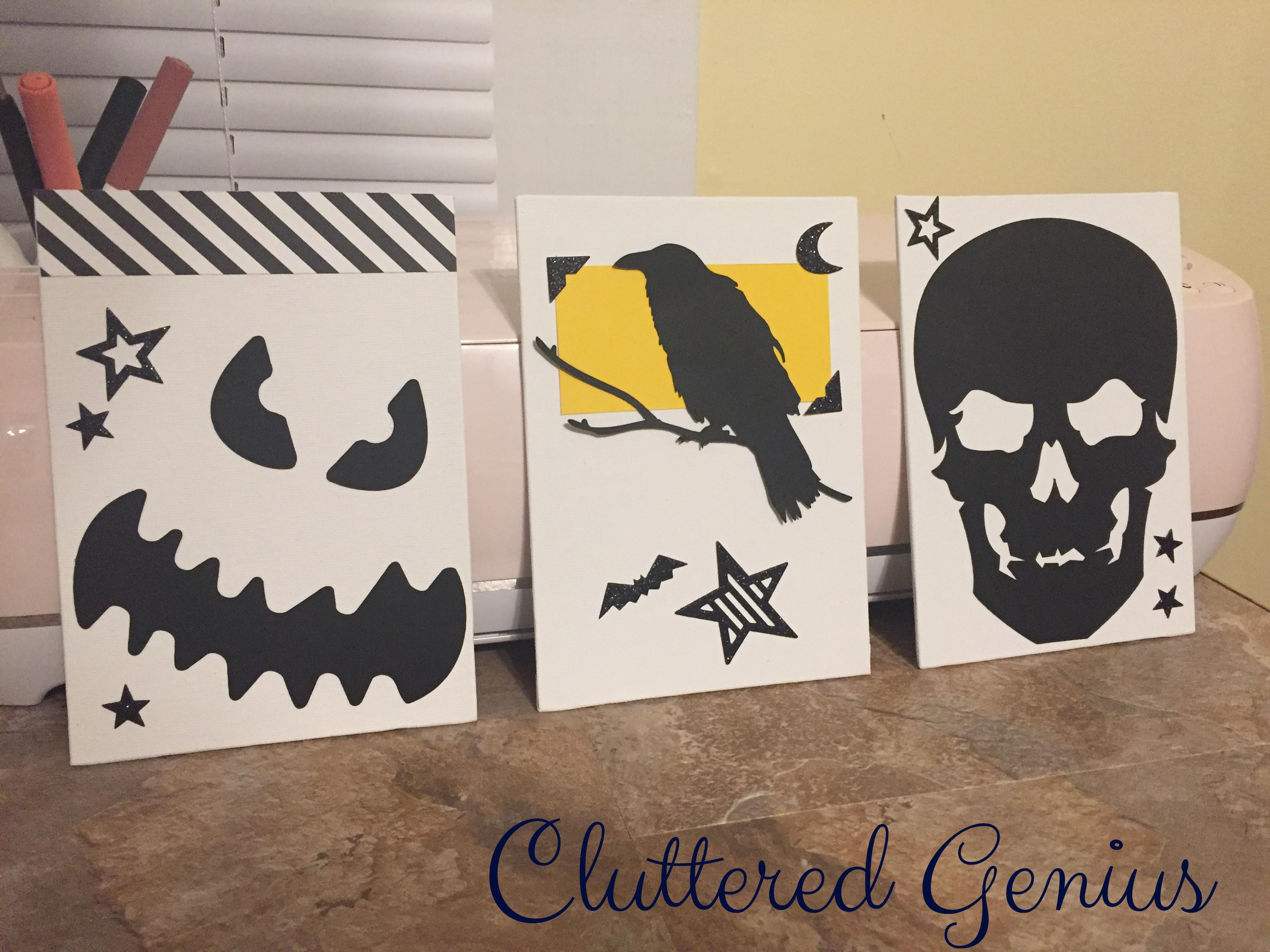 diy halloween canvas