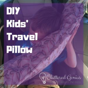 diy kids' travel pillow