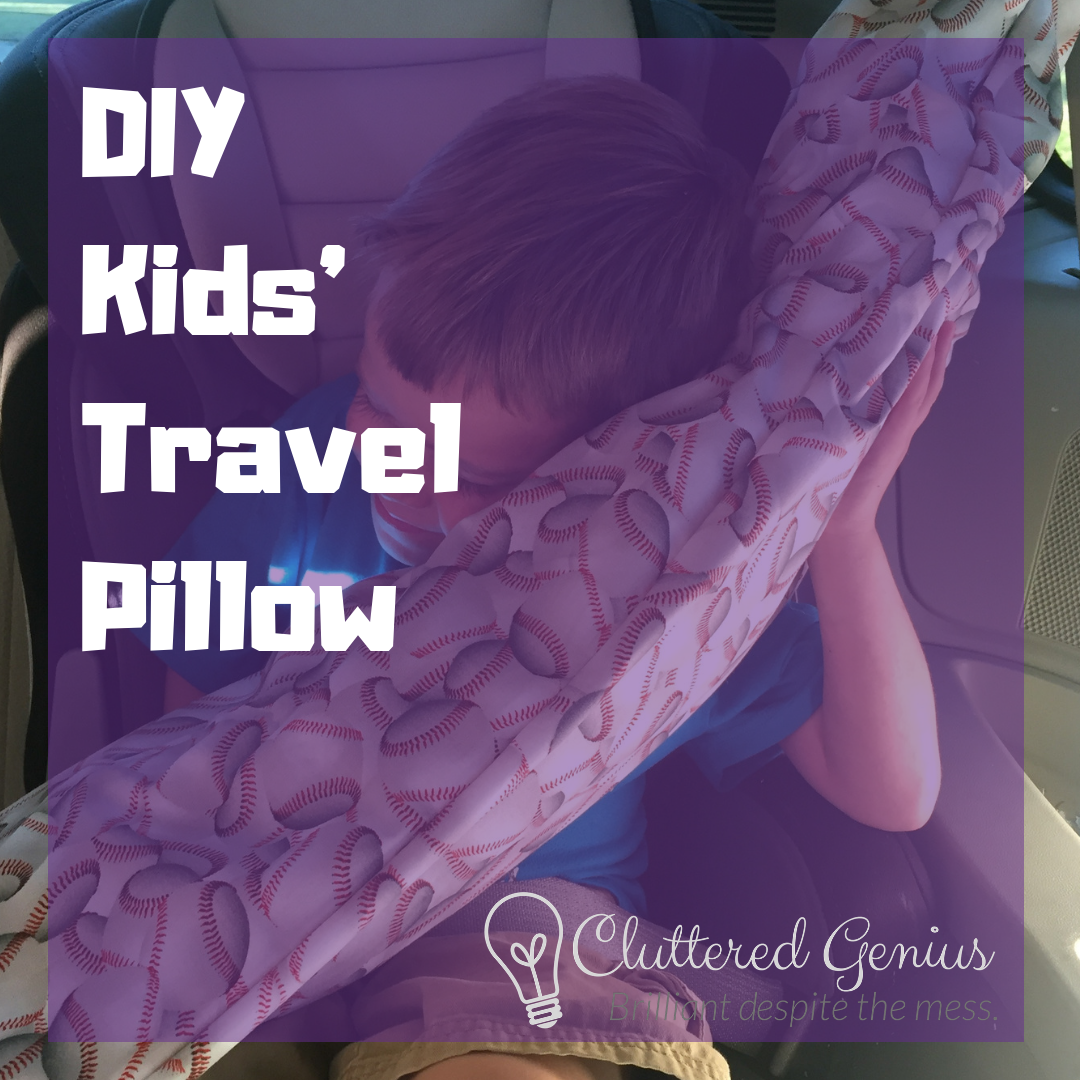 diy kids' travel pillow