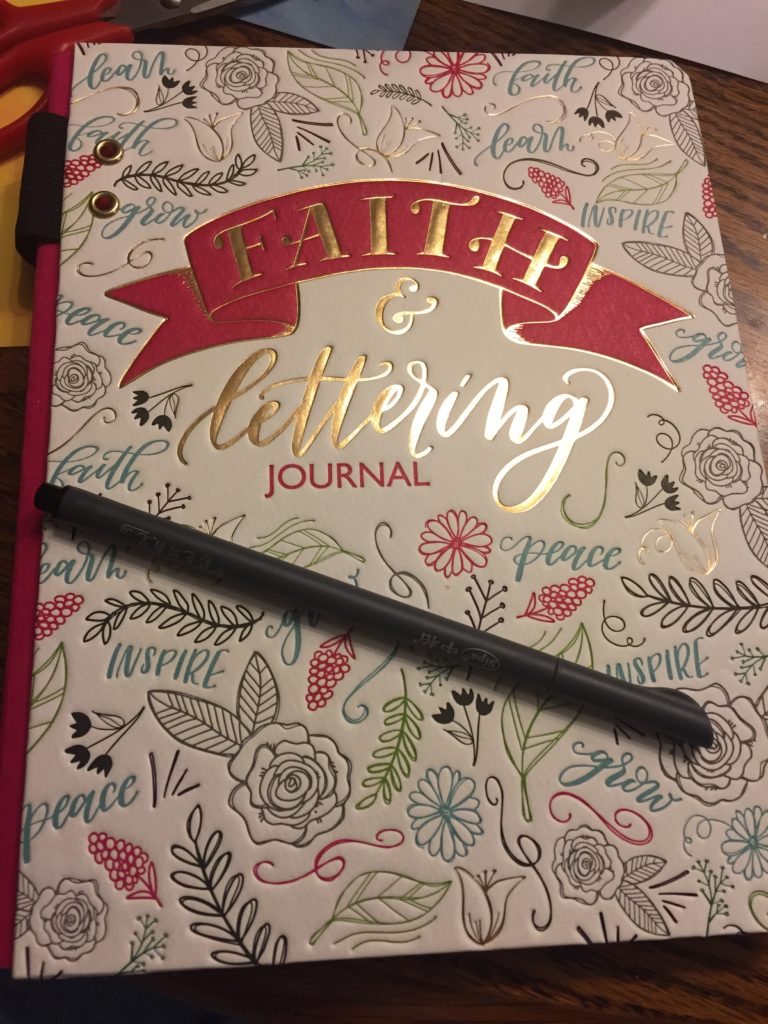 faith and lettering journal