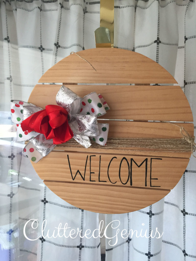 wintery welcome wreath