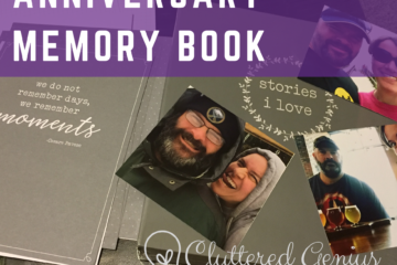 anniversary memory book